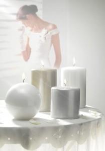 candele per matrimoni